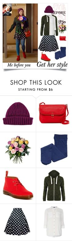 Me before you (Get her style ) - Louisa Clark by carlacbr on Polyvore featuring Dorothy Perkins, WearAll, Dr. Martens, FOSSIL, Lowie and Avant Toi