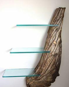 Driftwood Shelf by Craig Kimm #shelves #driftwood #design #homedecor