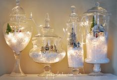 How to decorate for Christmas with Terrariums from Walking on Sunshine Recipes.