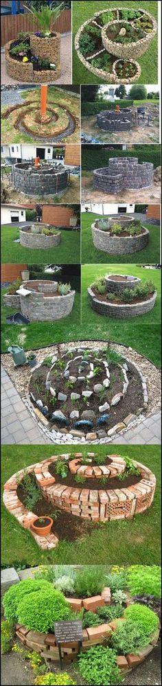 Espiral herb m maravilha bricolage espiral jardim de ervas
