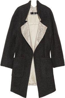 Theyskens' Theory|Monaz wool-blend and brocade coat|NET-A-PORTER.COM - StyleSays