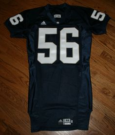 Notre Dame Fighting Irish Football Game Jersey #56 Adidas size 44 Authentic #adidas #NotreDame