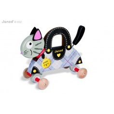 The Crazy Tigry pull along toy by Janod is a must for any little one. It's bendy body wiggles from side to side and tail wobbles when being pulled along Fashion Design For Kids, Kids Fashion, Lego Star Wars, Pull Along Toys, Cat Ears, Collection, Cats, Janod, 1 An