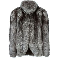 N.Peal silver fox fur jacket (£3,295) ❤ liked on Polyvore featuring outerwear, jackets, coats, grey, gray jacket, fox fur jacket, long sleeve jacket, grey jacket and silver jacket