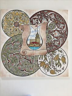 Tile Murals, Tile Art, Turkish Tiles, Islamic Art, Decorative Plates, Ornaments, Pattern, Crafts, Painting