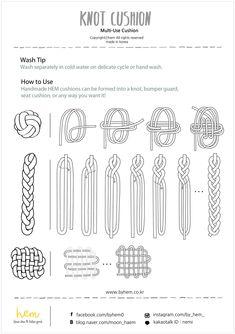 HEM - Knot Cushion / Dark Gray