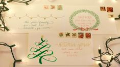 easy peasy christmas calligraphy designs for holiday envelopes beyond