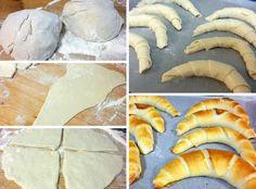 ha nincs időm kenyér sütéshez, akkor jön ez a recept. Pastry Recipes, Bread Recipes, Cookie Recipes, Hungarian Recipes, Russian Recipes, Food N, Food And Drink, Savory Pastry, Sweets Cake