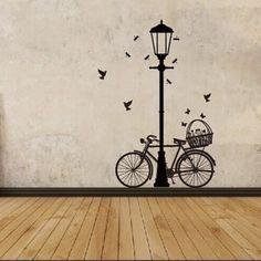 Street Lamp and Bike Wall Sticker