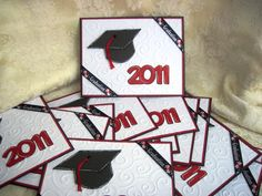 cricut graduation invitations to make at home   This idea is not origional. Robin at Robin's Creative Cottage made ...