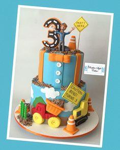 2nd Birthday Party Themes, 3rd Birthday Cakes, Construction Birthday Parties, Third Birthday, Birthday Fun, Birthday Celebration, Birthday Ideas, Party Cakes, First Birthdays