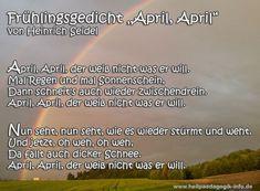 Frühlingsgedicht April, April