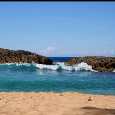 Mar Chiquita in Manatí, Puerto Rico.  how beautiful is this....