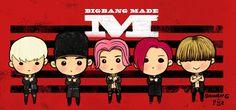 bigbang #bigbang fanart  #made #bangbangbang by dawangpiiz