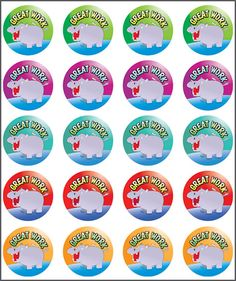Teacher stickers for sale online. Reward and merit stickers available, purchase them online today. Reward Stickers, Teacher Stickers, Happy Thoughts, The 100, Motivational, Packing, Classroom, English, Learning