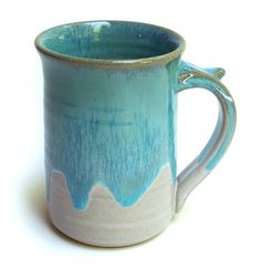 Large Coffee or Tea Mug 16 ounces by Hertzpottery on Etsy, $16.00