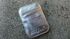 "Maybe ""ARMOR"" (Silver) Leather Wallet"