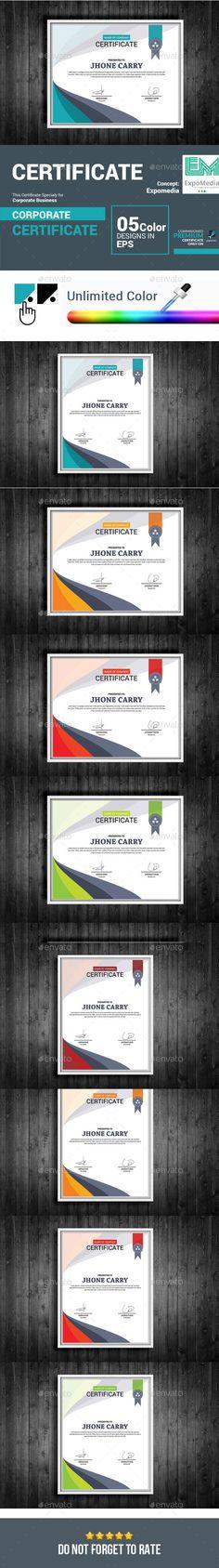 Certificate Design Certificate design, Certificate templates and - certificate template software