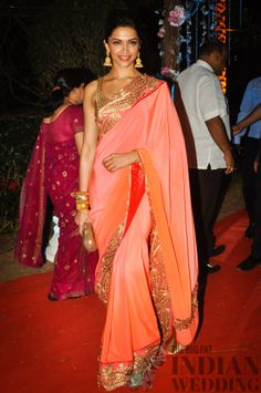 Bollywood Deepika Padukone in a hot ombre sari
