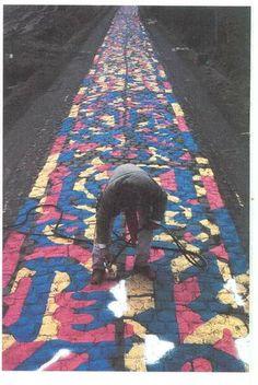 "Mahjoub Ben Bella, a peint les pavés du Paris-Roubaix en 1987 ""L'Envers du Nord""…"