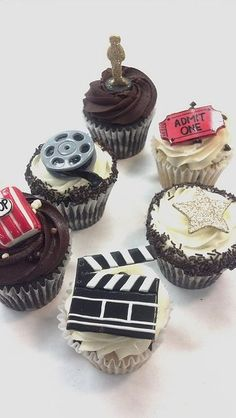 Movie theme cupcakes. Shared by Where YoUth Rise