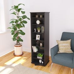 Add a unique flash of style to any room in your home by using this Prepac Black Media Storage. Online Furniture Outlet, Storage, Shelf Furniture, Media Storage Cabinet, Engineered Wood, Prepac, Media Storage, Furniture Outlet Stores, Adjustable Shelving