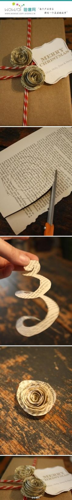 How to make paper roses.