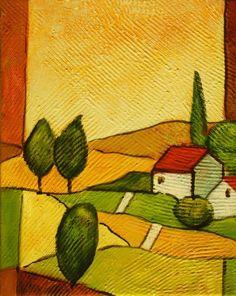 paisajes modernos para pintar - Buscar con Google