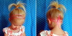 Cute hairstyles for toddlers ... For whenever this hair gets long ... Loving this woman's narration it's great