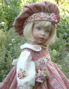 doll dress inspiration- darling embroidery on all her stuff scientific seamstress via welovefrenchknots.com