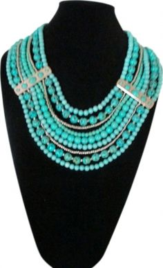 Beautiful Pearl & Turquoise Necklace.