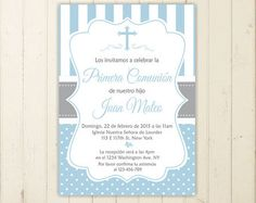 Boy baptism invitation first communion christening invitation boy invitation confirmation invitation printable baptism invitation by RebeccaDesignsCo. Find us on Etsy! Baby Shower Invitation Wording, Pink Invitations, Baby Shower Invites For Girl, Printable Invitations, Party Printables, Invitation Ideas, Invitation Cards, Christening Invitations Girl, Holy Communion Invitations