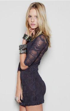 Deep V Victorian Lace - EVENING - DRESSES - Shop Online - StyleSays