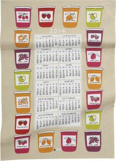 Vera Neumann 2014 Calendar Dishtowel  | Crate & Barrel