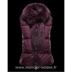 Moncler Femme Gilet CER Violet Winter Outfits For Work, Fur Accessories,  Down Vest, 4f1da38bfb0