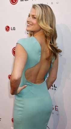 Ali Larter booty in backless blue