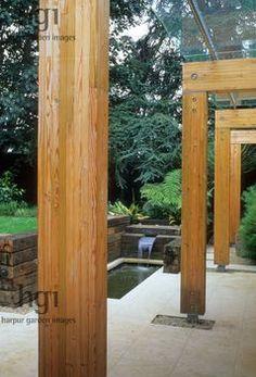 Timber and Glass Pergola walkway