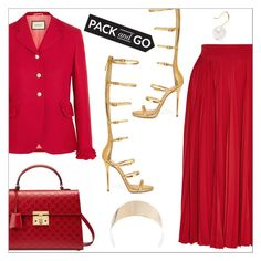"""Pack and Go Tokyo"" by danielle-487 ❤ liked on Polyvore featuring Gucci, Giuseppe Zanotti, Givenchy, Aurélie Bidermann, tokyo and Packandgo"