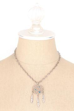 70's__Vintage__Turquoise Dreamcatcher Necklace
