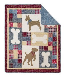 Love this Doggie Tales Reversible Throw Blanket by Hedaya Home Fashions on #zulily! #zulilyfinds