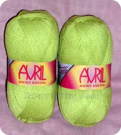 Android Green, Avril Double Knitting Yarn £1.70 per 100 gram Ball or £8 for 5 balls Plus P&P.