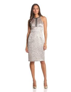 Maggy London Women's Brocade Dress, Gold Combo, 14 Maggy London,http://www.amazon.com/dp/B00AO1VXS8/ref=cm_sw_r_pi_dp_mIhtrb37E7F540A0