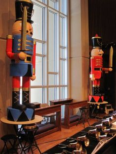 how to build your own nutcrackers 9 feet tall.  http://meighan.net/build_your_own_nutcrackers/