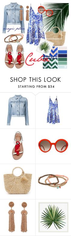 """""""Loving Cuba"""" by esti-osmieri ❤ liked on Polyvore featuring 3x1, Plakinger, Kate Spade, Alexander McQueen, Hat Attack, Chan Luu, Humble Chic and Pottery Barn"""