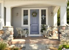 front door colors for white brick homes | What Your Front Door Color Has To Say About Your Personality (PHOTOS)