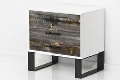 Cody Side Table in Grey Recycled Wood