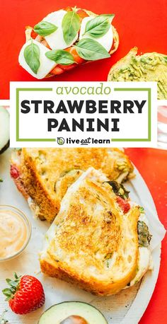 With fresh mozzarella, sweet strawberries, creamy avocado, and basil, this Strawberry Grilled Cheese is a fun and easy meal! It's a flavor packed healthy lunch idea for bringing to work or school. Vegetarian Sandwich Recipes, Vegetarian Lunch, Lunch Recipes, Thm Recipes, Healthy Recipes On A Budget, Clean Eating Recipes, Budget Meals, Healthy Food, Quick Summer Meals