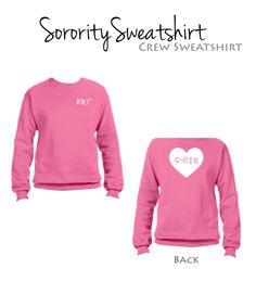 Kappa Kappa Gamma G-Big Sweatshirt I Heart Style $34.98