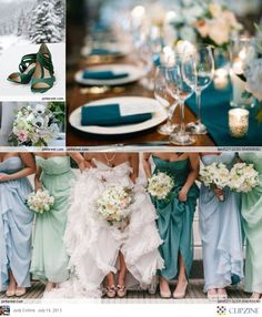 Teal Blue Weddings, each of my bridesmaids have chosen a different blue.. its going to look wonderful... cant wait...