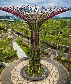 Gardens by the Bay, Singapure - consisting of 18 supertrees